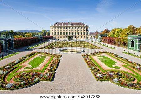 Palace Gardens at Vienna poster