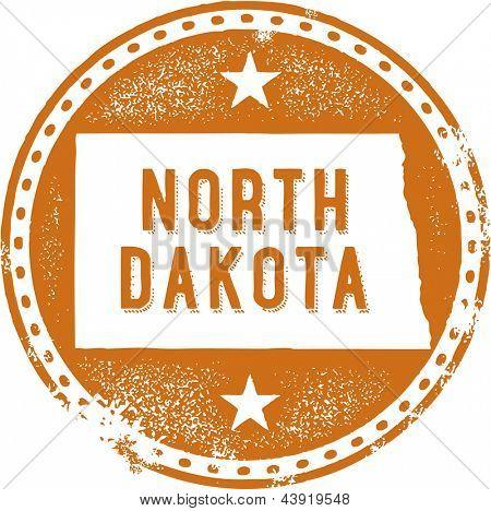 Vintage North Dakota USA Staat Stamp