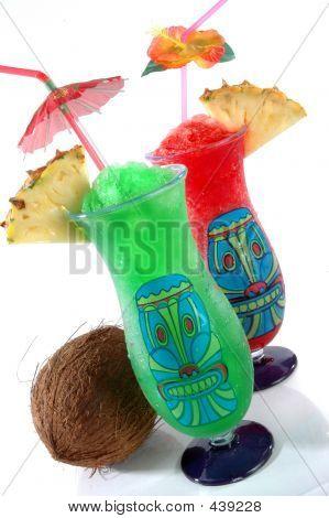 Two Tiki Tropical Drinks