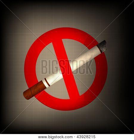 Anti smoking background.