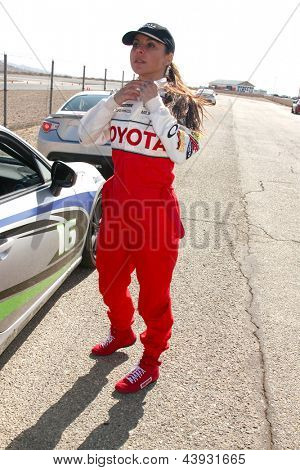 LOS ANGELES - MAR 23:  Kate del Castillo at the 37th Annual Toyota Pro/Celebrity Race training at the Willow Springs International Speedway on March 23, 2013 in Rosamond, CA          EXCLUSIVE PHOTO