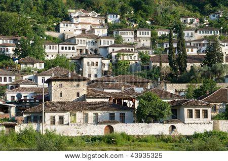 Gorica neighborhood of Berat, Albania