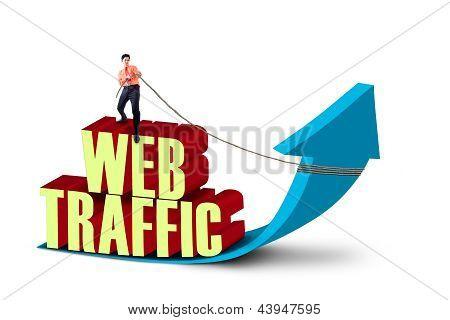 Empresario Pull tráfico de Web