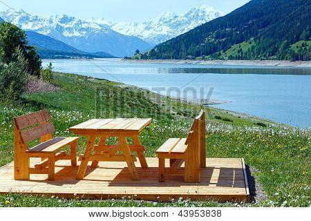 Reschensee Summer Landscape (austria).