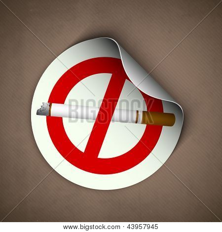 World asthma day background with cigarette, anti smoking background.