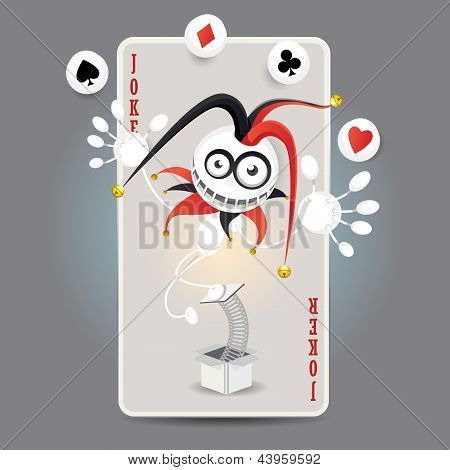 Joker Harlequin Card