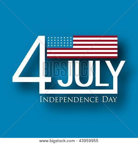 4th of July Happy Independence Day background. poster