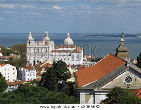 Lisbon Panoramic View Toward The Vasco Da Gama Bridge