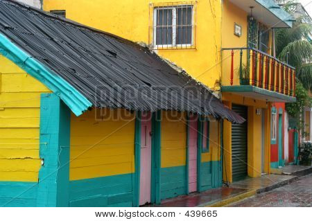 Colorful Mexican House