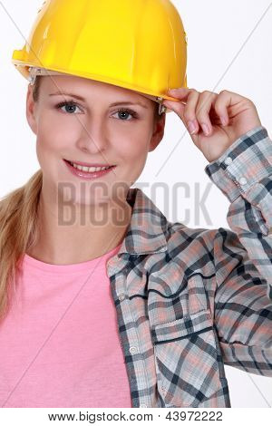 Portrait of a handywoman