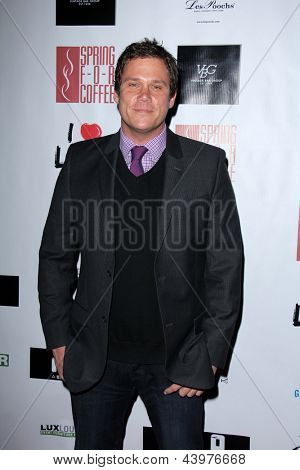 LOS ANGELES - APR 2:  Bob Guiney arrives at  the No Kill L.A. Charity Event at the Fred Segal on April 2, 2013 in West Hollywood, CA
