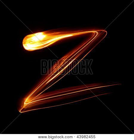 Z - Created by light lowercase letters
