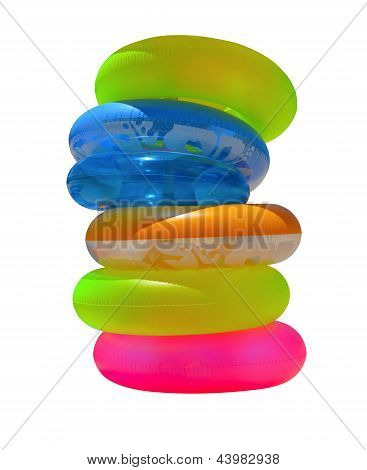 Isolated Inflatable Beach Tubes