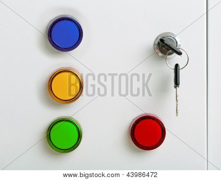 Colorful indicators electrical switchgear cabinet