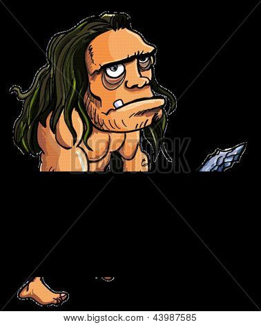 Cartoon caveman or troglodyte