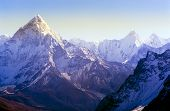 Spectacular mountain scenery on the Mount Everest Base Camp trek through the Himalaya mountains Nepal poster