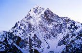 Spectacular mountain scenery on the Mount Everest Base Camp trek through the Himalaya Nepal poster
