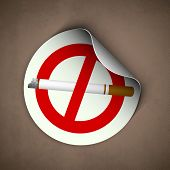 World asthma day background with cigarette, anti smoking background. poster