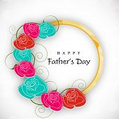 Happy Fathers Day background with flowers. poster