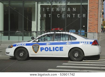 Port Authority New York New Jersey car providing security in World Trade Center area