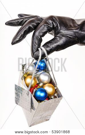 Gift Bag Full Of Christmas Decorations