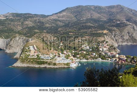 Assos At The Island Of Kefalonia In Greece