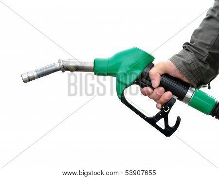 Pumping fuel.