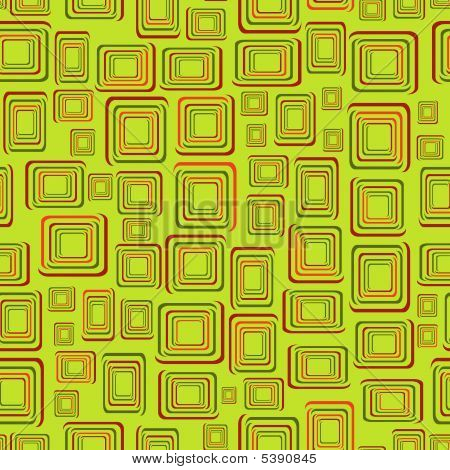 Seamless background with green squares. Vector illustration poster