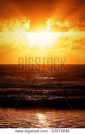 Sunset in Arraial d'ajuda - Bahia - Brazil poster