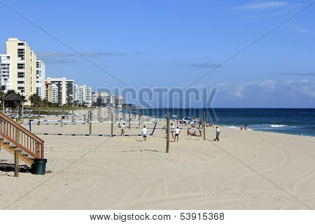 Volleyball On Deerfield Beach