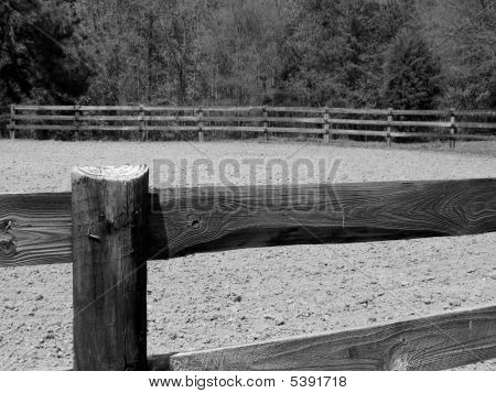 Wooden Fence And Arena
