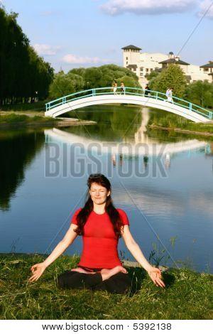 Bridge In Eternity. Lotos Pose