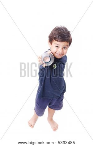 Smiling Kid With Dvd
