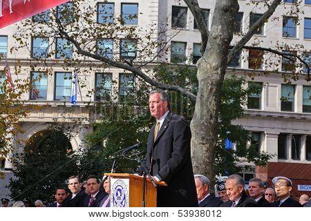 NYC Mayor-Elect Bill De Blasio