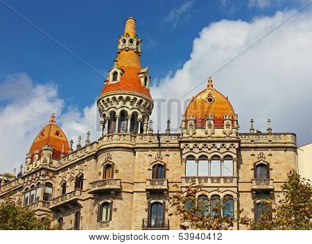 Cases Pons in Barcelona Spain. Was built in 1890-1891 by Catalan architect Enric Sagnier poster
