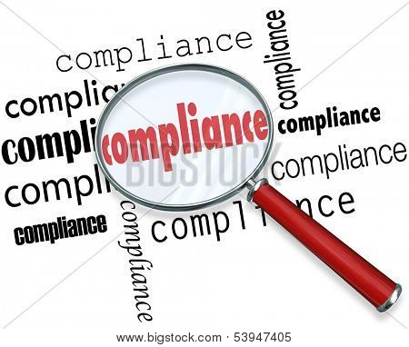 Compliance Magnifying Glass Rules Regulations
