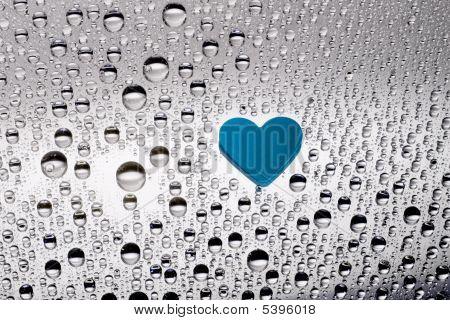 blue paper heart