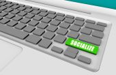 Socialize Online with a Green Keyboard Button poster