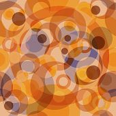 Abstract seamless background with concentric circles (vector) poster