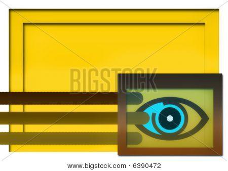 Goggle-eyed background