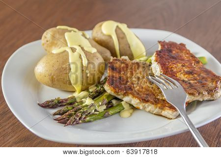 Green Asparagus With Pork And Potatoes