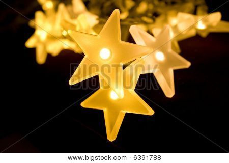 Christmas Stars Bright Yellow