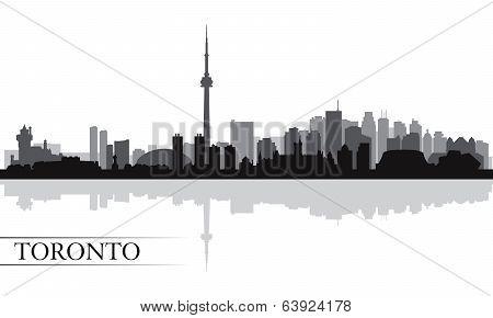 Toronto City Skyline Silhouette Background
