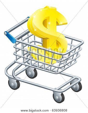 Dollar Currency Cart Concept