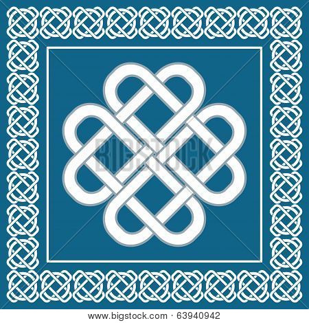 Celtic Love Knot,symbol Of Good Fortune,vector Illustration