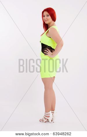 Young Plump Red-haired Woman