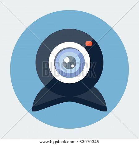 Vector flat webcam icon