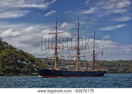 Tall ship James Craig in Sydney