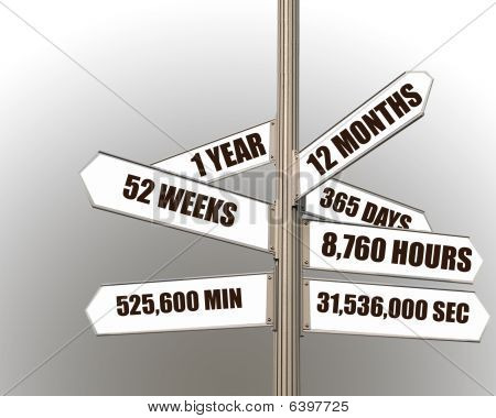 1 Year Signpost