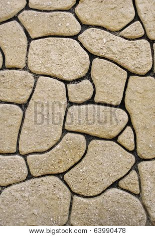 Wall Of Boulders With Black Fugue